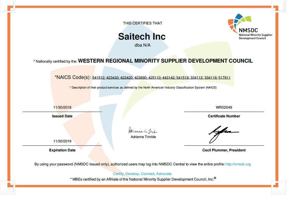 Saitech WRMSDC 2019