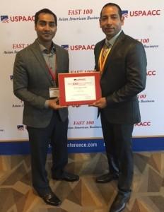 Sam and Rick with USPAACC award