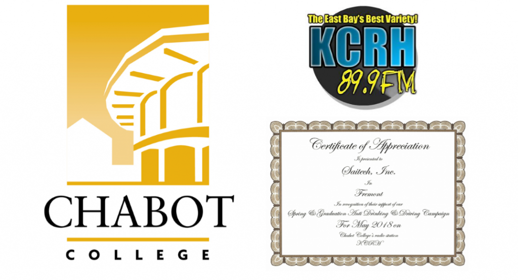 Chabot College KCRH Saitech Cert Logos