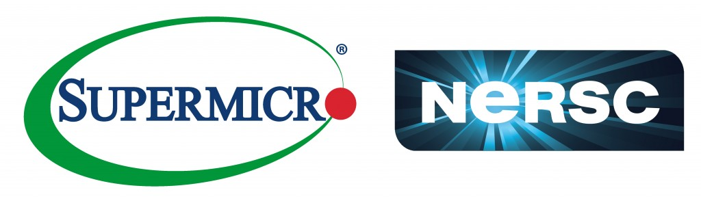 SuperMicro logo and NERSC logo