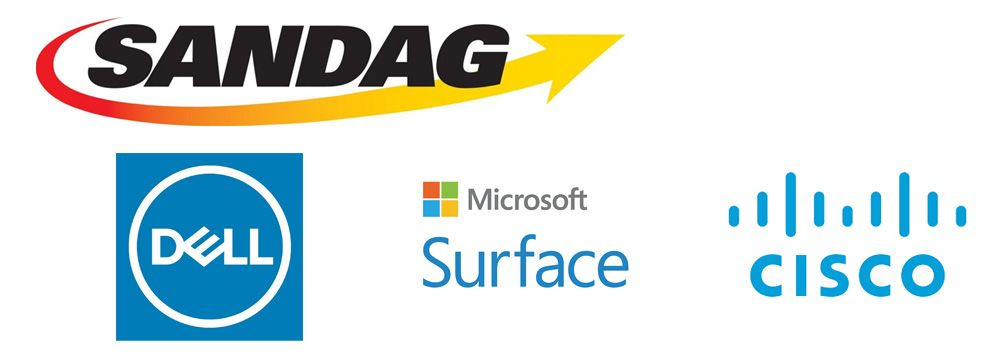 SANDAG Dell Cisco MS Surface logo