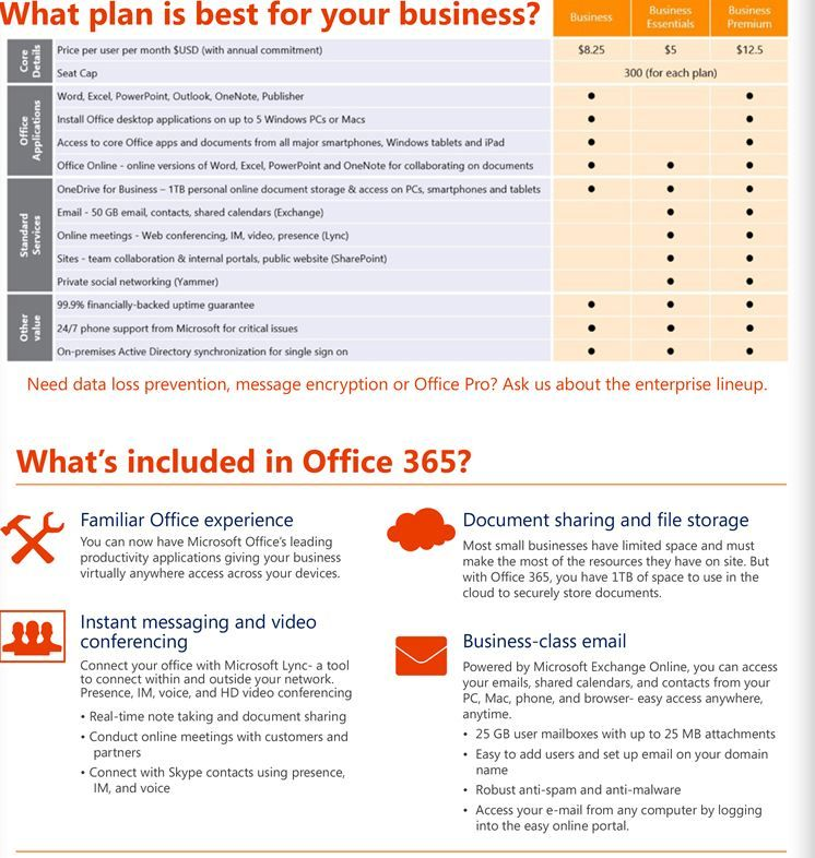 Office 365: Enterprise-grade capabilities at a small business price